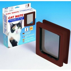 Cat Mate 234B Lockable Cat Flap / Door with Door Liner - Brown
