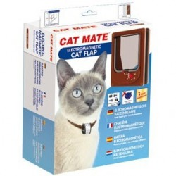 Cat Mate 254B Electromagnetic Cat Flap - Brown