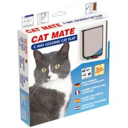 Cat Mate 309W 4 Way Locking Cat Flap - White