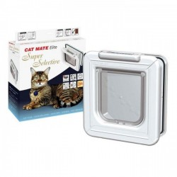 Cat Mate ELITE Super Selective Cat Flap - White