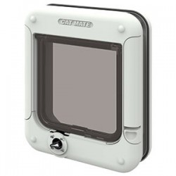 Cat Mate ELITE 4 Way Locking Cat Flap - White