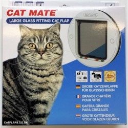 Cat Mate 210W Glass Fitting Cat Flap - White